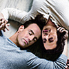 shiredancer: Jim Ellison & Blair Sandburg lovingly entwined (Jim & Blair entwined)