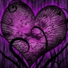 kiltfan: Stylized heart on a purple background (sunflower)