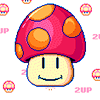 prozacnation: (Super Mario 2 Up Mushroom)
