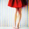lasikello: (Nainen - punainen helma)