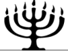 thnidu: Seven-branched Temple menorah, symbolic of all Judaism, not the 9-branched Chanukah menorah. bethelcongregation.org (menorah)