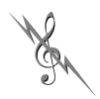 thnidu: a G-clef crossed with a lightning bolt (clef)