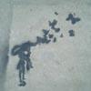 iridium: (stencilled butterflies)