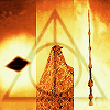 harrypotter: An image composite of the deathly hallows. (deathly hallows)