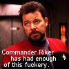 buttfacedmiscreant: (Riker fuckery)