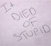 misunderstruck: (died of stupid)