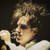 horizon_greene: Robert Smith singing into a microphone. (robert shadow)