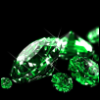 dorothy_notgale: Emeralds scattered over black background (Default)