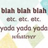sasverse: (.quote - blablah whatever yadda)