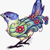 zdenka: A bird made of flowers. (cheerful)