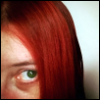 arkady: Close-up of self with red hair. (Arkadian Dreams)
