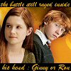 shocolate: (ginny or ron)