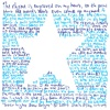 wonderbink: The outline of a star surrounded by tiny (illegible) writing (cleanthings)