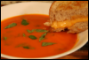 joshuwain: A picture of some tomato soup and a grilled cheese sandwich. (Food and Cooking)