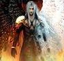 etrixan: 2-winged Sephiroth (1 light, 1 dark) (mad world, wings, sephiroth)