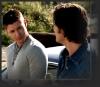 etrixan: Dean & Sam having a beer (crazy train, sam)