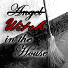jamie: witch in the house with a broom picture (pagan)