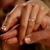 annabethbigbang: (Sam & Jess: showing off her ring.)