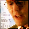 "hermionesviolin: image of Giles with text ""I am nothing but books and heart"" (books and heart)"