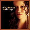 "hermionesviolin: image of River Tam with scraggly hair looking toward the viewer but also eyes cast down a bit, with text ""it's time to wake up"" (wake up)"