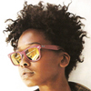 hermionesviolin: young black woman(?) with curly hair and pink sunglasses, facing away from the viewer (every week is ibarw)