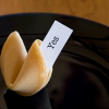"hermionesviolin: a fortune cookie with a piece of paper sticking out that says ""You"" (ilu)"