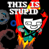 "elf: John Egbert with a rocketpack, captioned ""THIS IS STUPID"" in all caps. (This is stupid)"