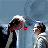 ada_hoffmann: man and woman facing each other confrontationally on a white background (argue - han and leia)