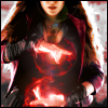 ada_hoffmann: cropped shot of a woman whose hands are glowing red with magic (magic - scarlet witch)