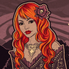 glassfall: Cinders in an elegant necklace and dress, complete with a flower in her hair. ({Forgotten the taste and smell})