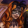 glassfall: Cinders, smiling slightly, wearing a mask. ({The lens I told her})
