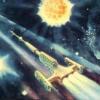 "lefantasy: картина А. Леонова ""Мимо Цефеи. 1969"" (коммунизм)"