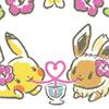 sazandorable: Pikachu & Eevee girlfriends sip a cocktail (pikavee cocktail)