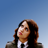 seraphina_snape: Icon of Wendy Watson from The Middleman looking up into the upper left-hand corner of the icon. The background is blue. (TheMiddleman_ Wendy Watson)