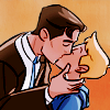 seraphina_snape: icon of Jack and Bitty from the webcomic Check, Please! kiss. (by myself)