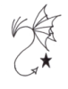 snakypoet: Line drawing of dragon plus 5-pointed star (Default)
