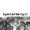 chicafrom3: photo of the Animorphs as a group with the text: together we fight (animorphs)