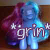 fractalwolf: A My little pony toy, angled so it looks like she's grinning (grin, mlp, glee, happy)