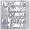 sareini: The Mountains of Madness have many little plateaus of sanity - Discworld (Mountains of Madness)