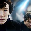 yourlibrarian: Sherlock & John (OTH-HalfFaceSherlock&John-thedothatgirl.)