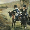 sharpiefan: Napoleonic era cavalry soldiers on the lookout (Vidette)