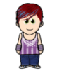 hsb: Weemee wearing purple (Default)
