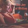 mycanonhatesme: (chloe loves writing)