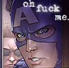 "supertights: Image of Captain America with the words ""Oh fuck me"" above. (Captain America, F-bomb)"