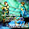 supertights: Image of Nova and Justice with text (Chasm)