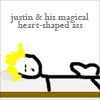 xie_xie_xie: (Justin's magical heart-shaped ass)