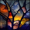 tiedyedave: (stained glass)