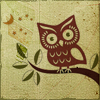 vex_verlain: Graphic of an owl on a branch. (Owl)