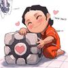 moog: (Companion Cube, Chibi)