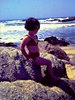 coyotewoman: toddler me at the beach (emee)